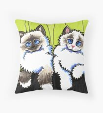Pair of Dolls | Ragdoll Cats Throw Pillow