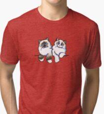 Pair of Dolls | Ragdoll Cats Tri-blend T-Shirt