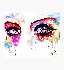 Watercolor Eyes II Photographic Print