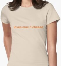 Loves Mac N'Cheese - CoolGirlTeez Womens Fitted T-Shirt