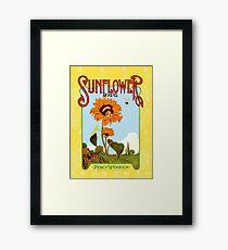 Sunflower Vintage Music Sheet Cover Framed Print