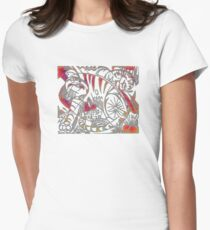 Tiger in Red After Franz Marc Women's Fitted T-Shirt