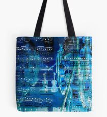 Violins and music notes Tote Bag