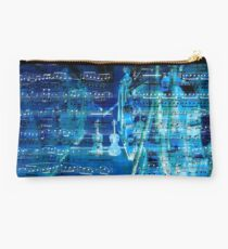 Violins and music notes Studio Pouch