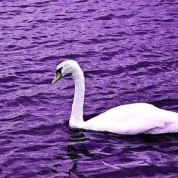 Violet Swan by esemyu