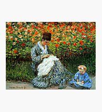 Madame Monet 3-D Redux Photographic Print