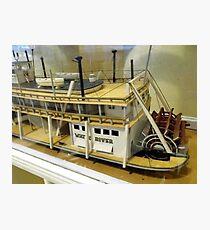 Paddle Wheeler Model Photographic Print