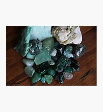 Crystals: The Green Collection Photographic Print