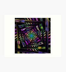 Squared Distortion Art Print