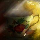 Morning tea with peony by Jeff Burgess