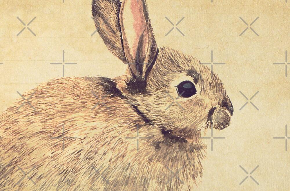 Watercolour Rabbit SKetch by Lisa Marie Robinson