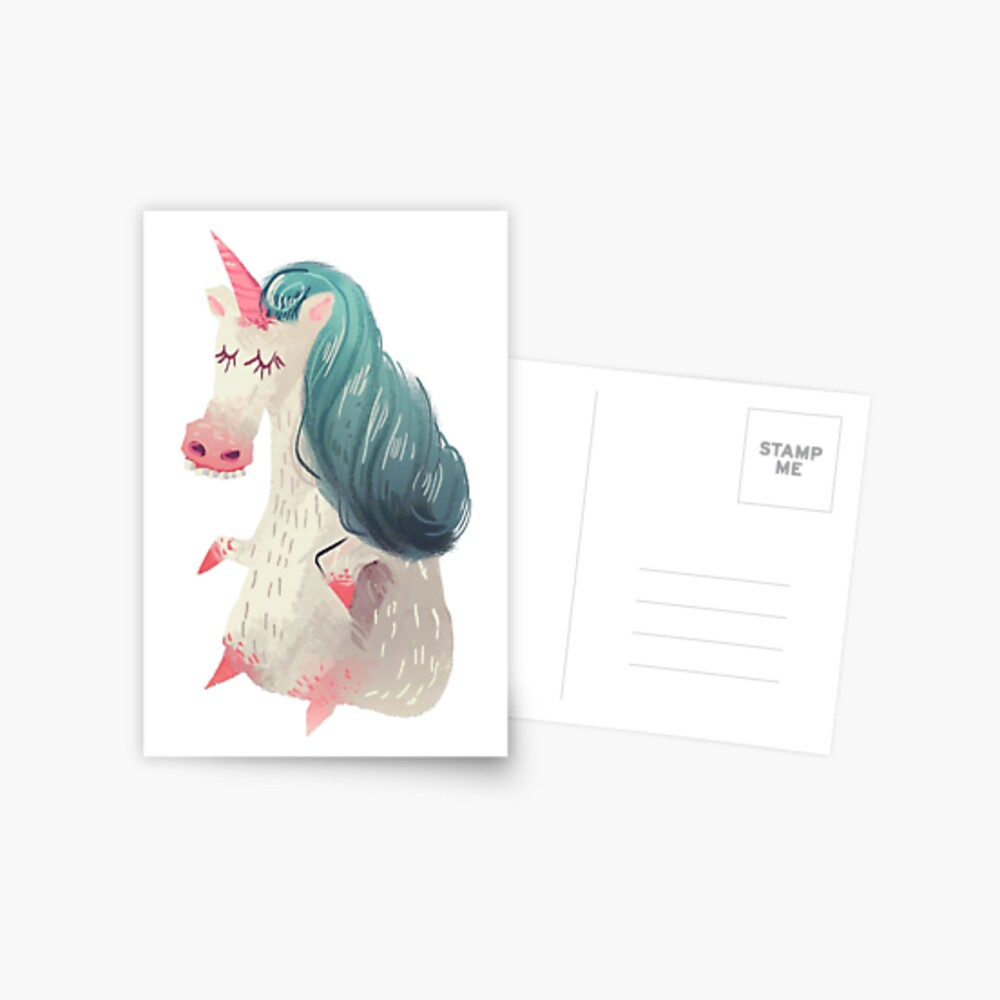 Unicorn Pony Postcard
