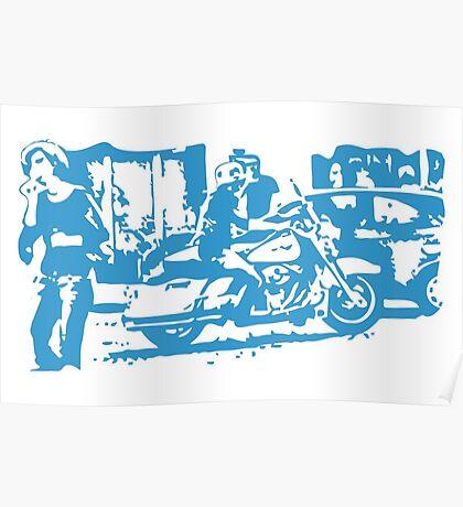 Biker in the Alley VRS2 Poster