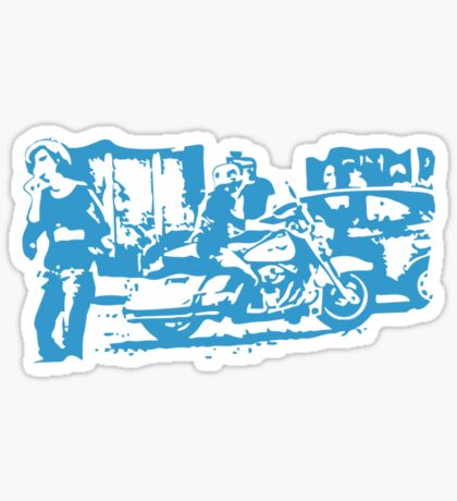 Biker in the Alley VRS2 Sticker