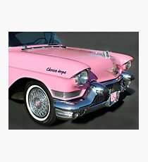 """""""Pink Cadillac For The Cure"""" Photographic Print"""