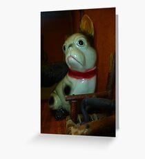 Doggie Doorstop Greeting Card