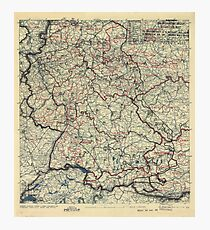 May 25 1945 World War II HQ Twelfth Army Group situation map Photographic Print