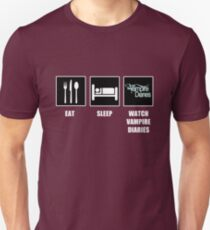 Eat Sleep Watch Vampire Diaries Unisex T-Shirt