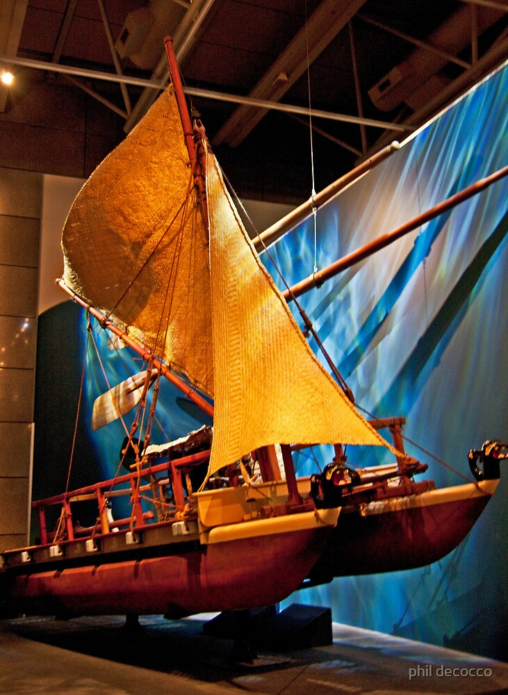Maori Sailing Craft by phil decocco