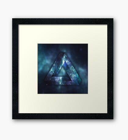 Infinite Triangle (Galaxy) Framed Print