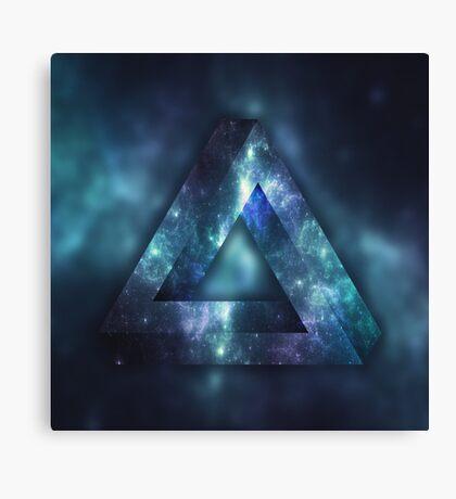 Infinite Triangle (Galaxy) Canvas Print