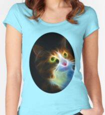 A CATS LOOK TEE SHIRT Women's Fitted Scoop T-Shirt