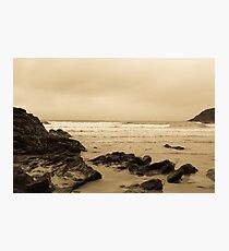 Antique tinted Cornish costal view Photographic Print
