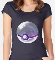 Galaxy Pokeball. Women's Fitted Scoop T-Shirt