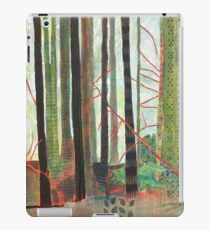 Embroidered Forest, mixed media and zentangles iPad Case/Skin