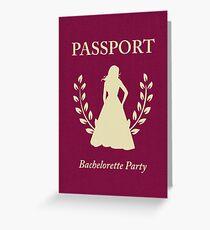 Bachelorette Party Passport Invitation  Greeting Card