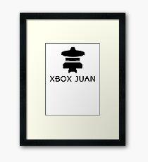 Xbox Juan - Black Framed Print