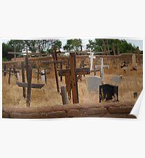 Taos Pueblo Grave Site Poster