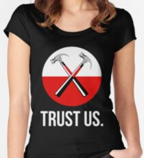 Pink floyd TRUST US Women's Fitted Scoop T-Shirt