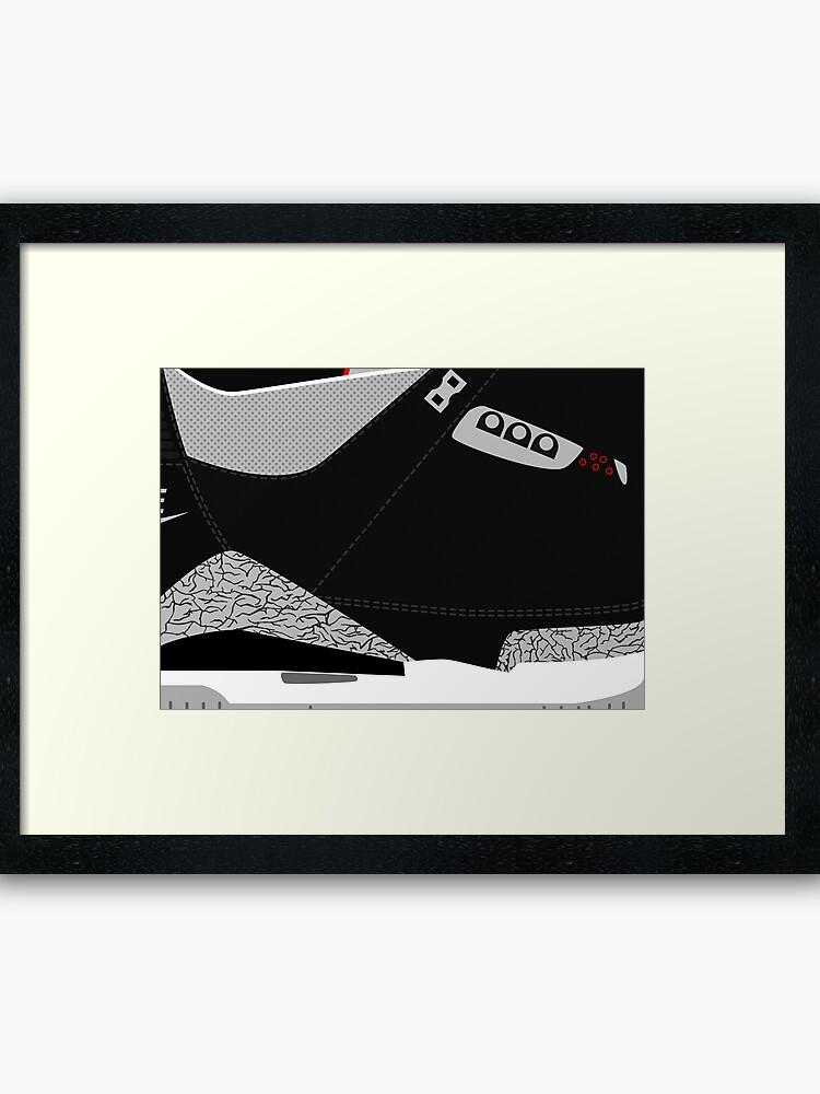 sale retailer a77af e8dfe Made in China III Black/Cement Size US 9.5 - Pop Art, Sneaker Art, Minimal    Framed Art Print