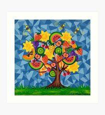 Tutti Fruti Tree Art Print