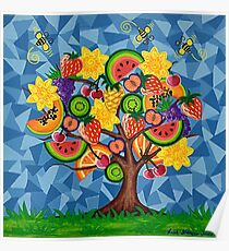 Tutti Fruti Tree Poster