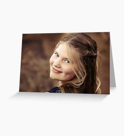A Portrait of Perrin Greeting Card