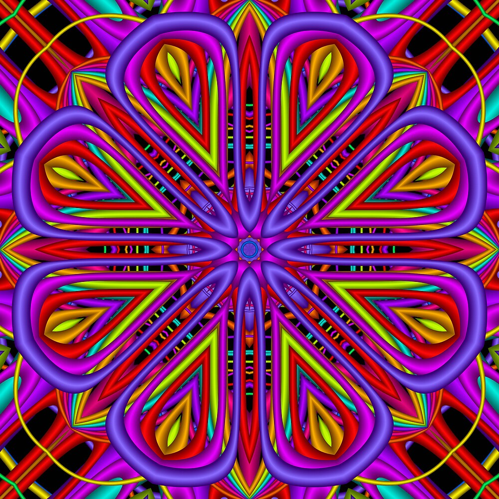 The Fractal Blossom Kaleidoscope by walstraasart