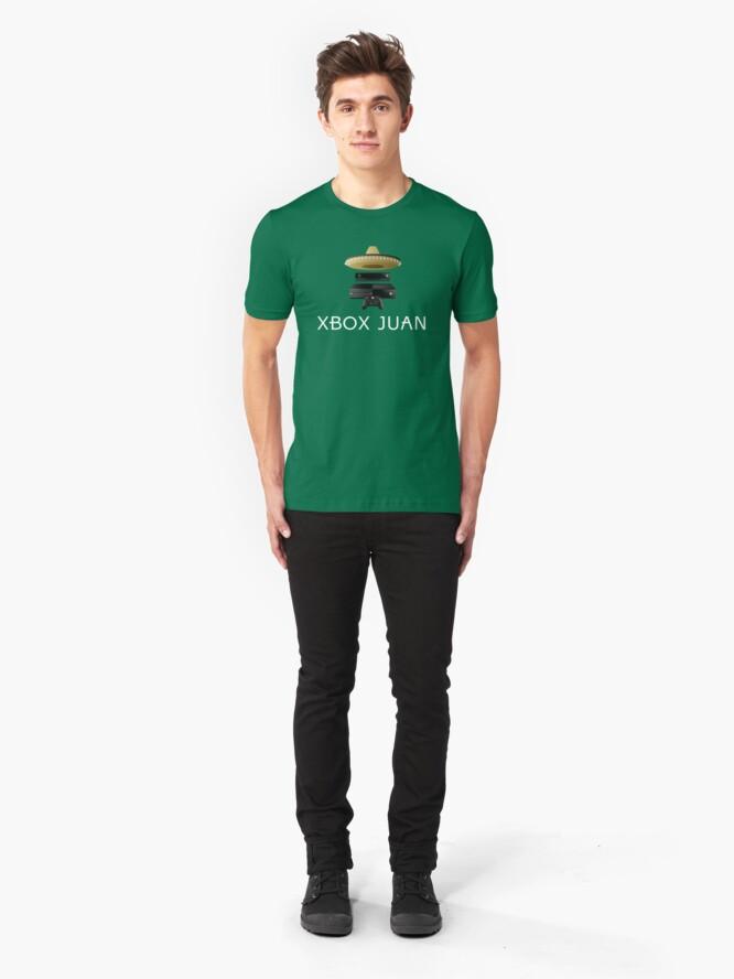 Vista alternativa de Camiseta ajustada Xbox Juan - Coloreado