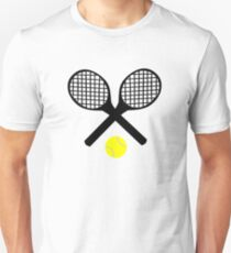 Tennis Rackets and Tennis Ball T-Shirt