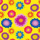 Yellow Floral Pattern by rusanovska