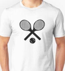 Tennisschläger und Tennisball Unisex T-Shirt
