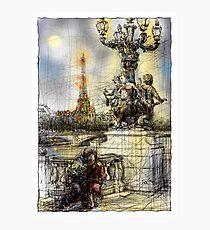 Paris 7 in colour Photographic Print