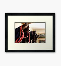 Saddles of Winners Framed Print