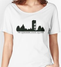 The Evergreen State College Clock Tower Women's Relaxed Fit T-Shirt