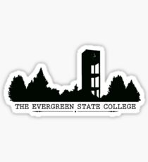 The Evergreen State College Clock Tower Sticker