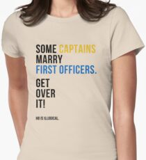 some captains marry first officers Womens Fitted T-Shirt