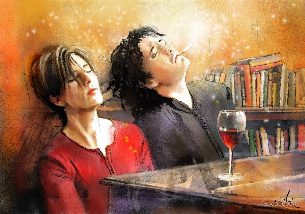 Dylan Moran and Tamsin Greig by Goodaboom