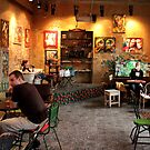 Budapest - People Enjoying Szimpla Kert  by rsangsterkelly