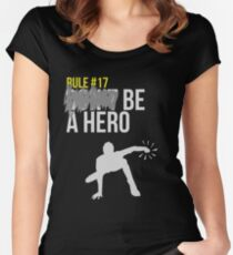 Zombie Survival Guide - Rule #17: Be A Hero Women's Fitted Scoop T-Shirt